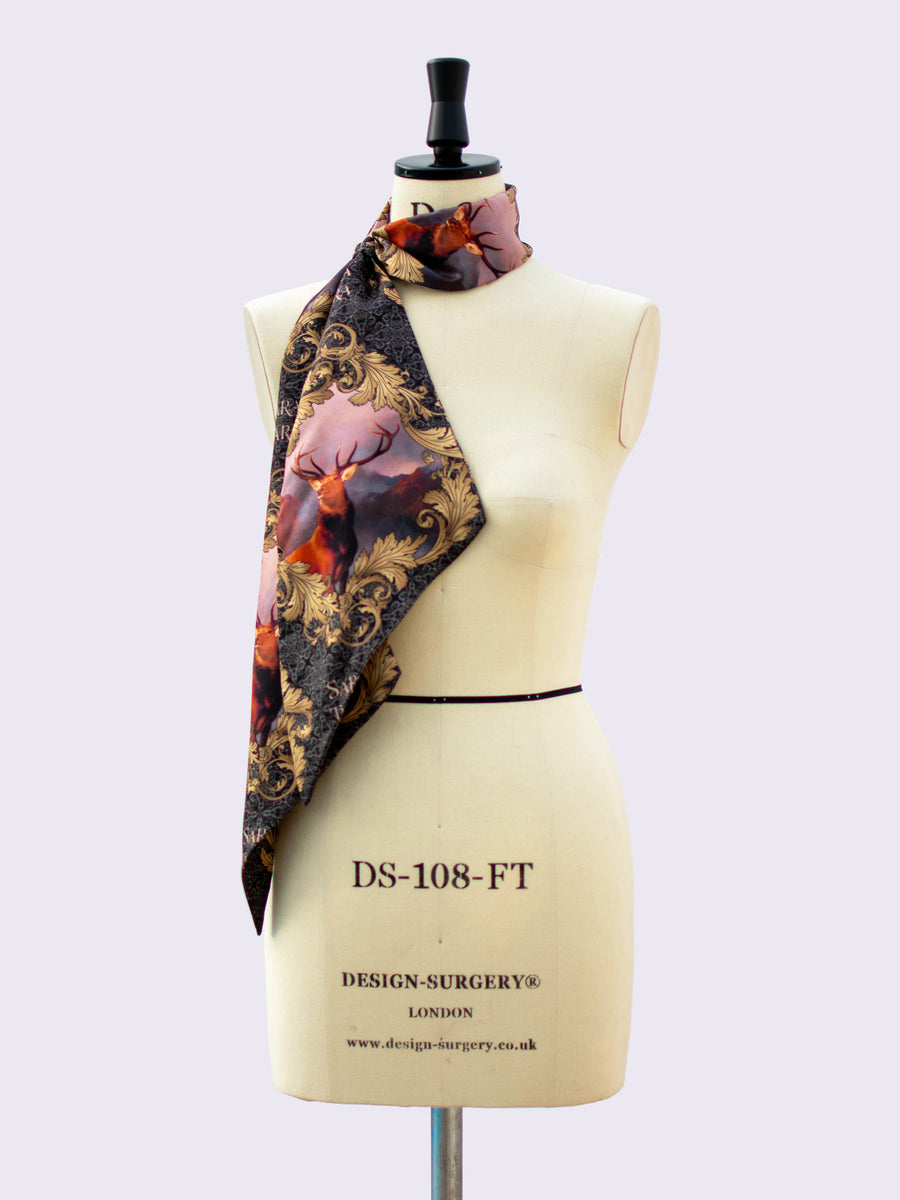 independent fashion label - printed silk scarf