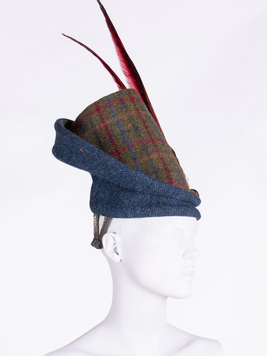 Highland Duchess. Navy Blue & Green