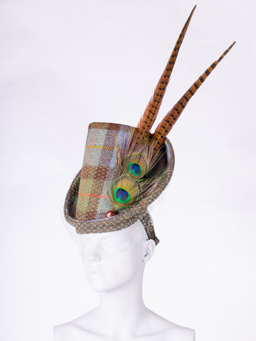 Tweed with a twist - heritage style flamboyant wool hat