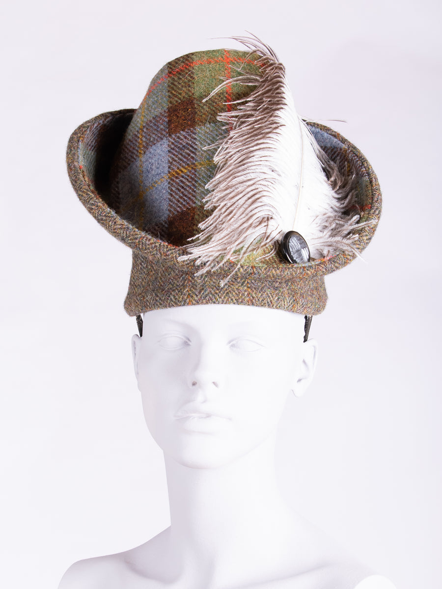 Sustainable luxury - Edwardian style British tweed hat