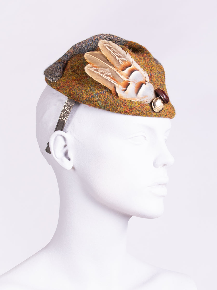 Tweed with a twist - heritage style wool hat