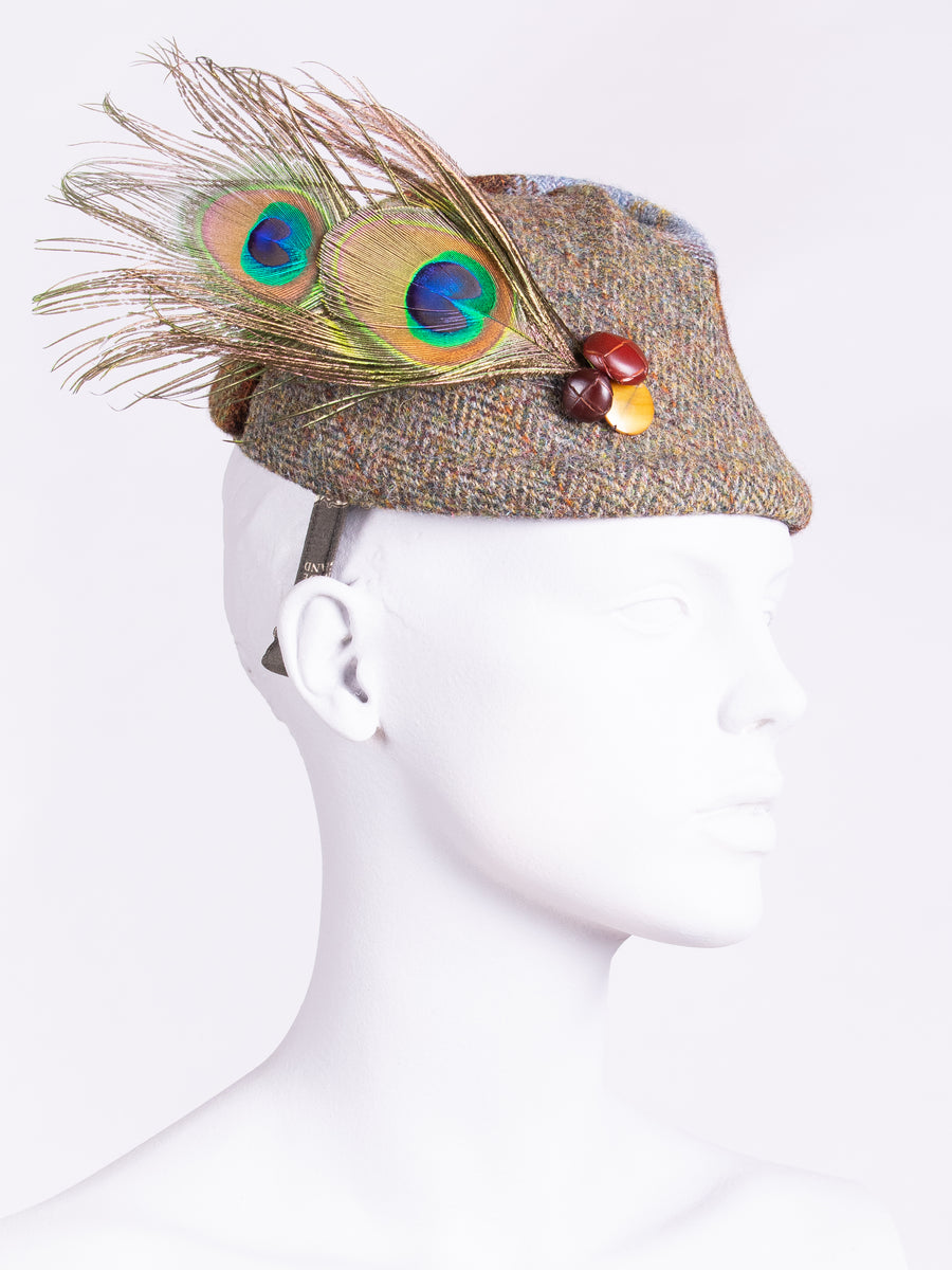 made in England country style Harris Tweed hat