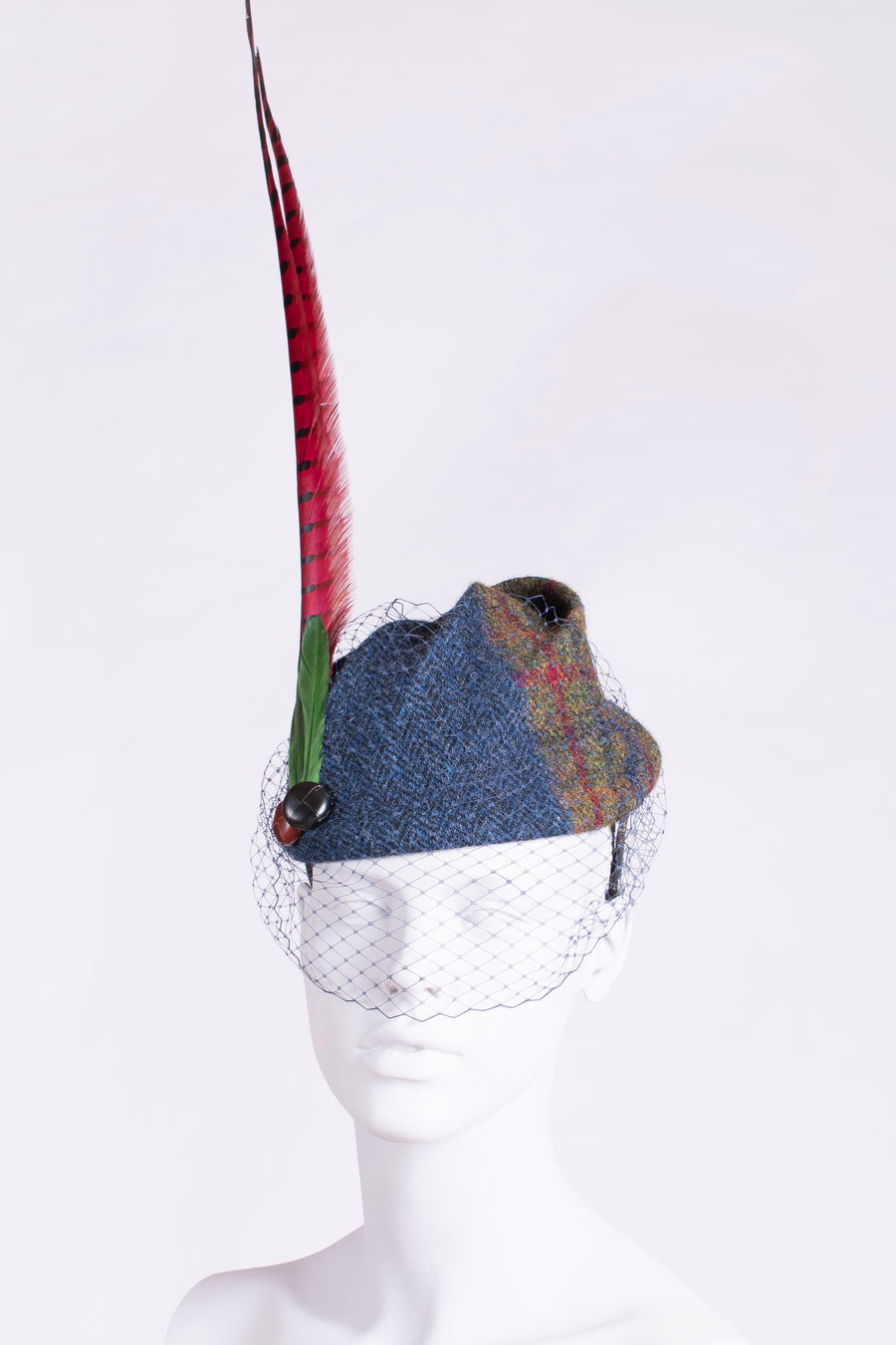 made in the New Forest Harris Tweed hat