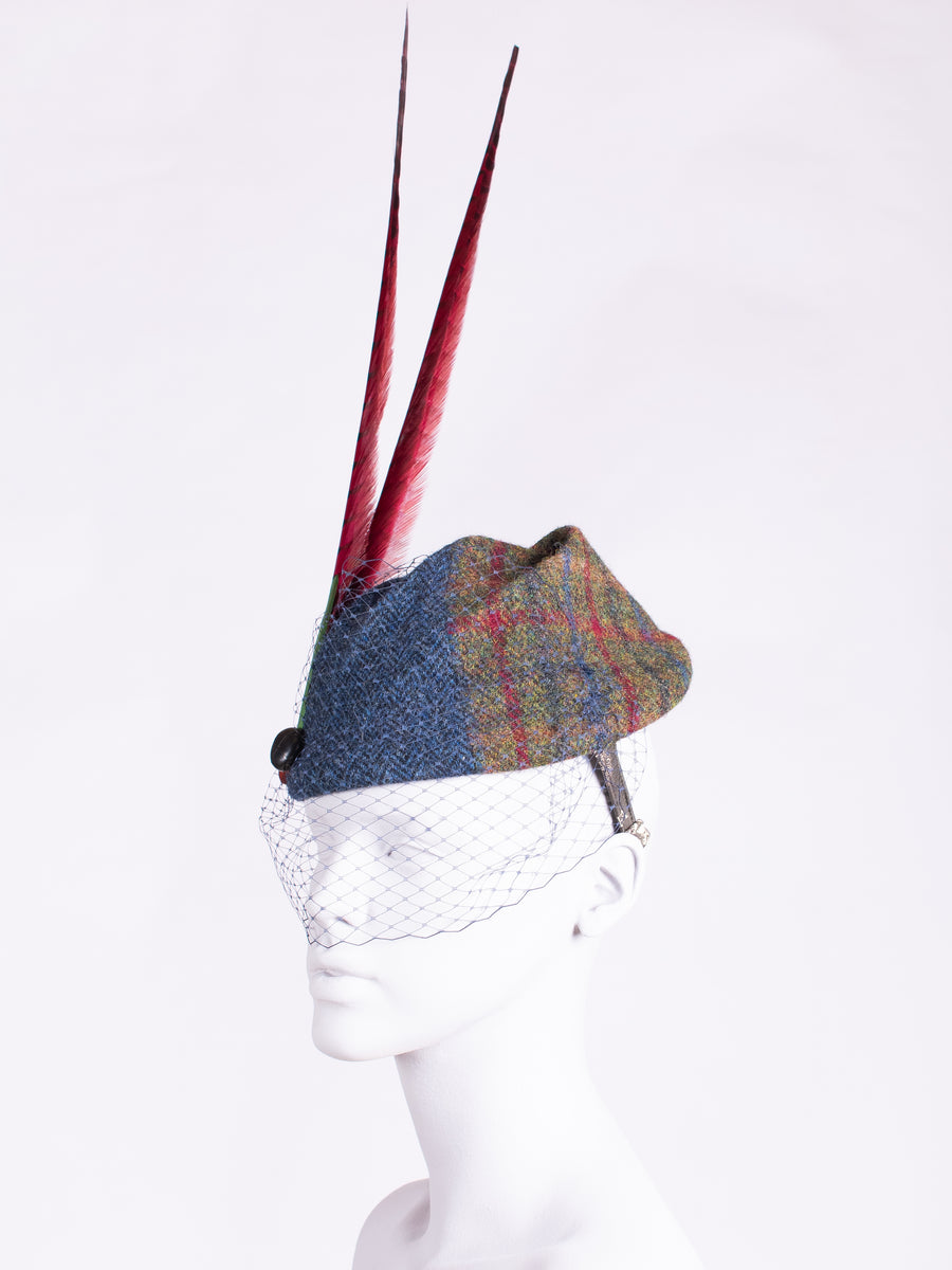 unique handwoven tweed hat made in England