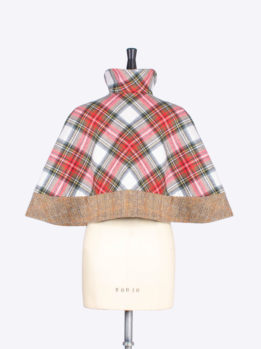 short tartan cape - British fashion
