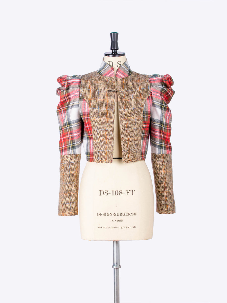scottish tartan bolero jacket - sustainable fashion made in England