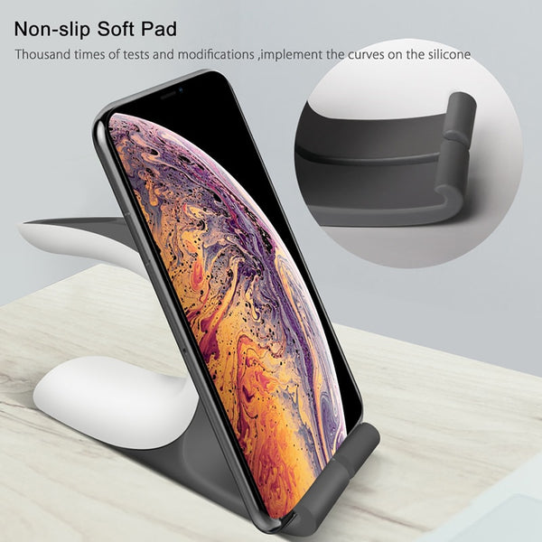 2 in 1 Universal Charging Dock Holder for Apple Watch 1 2 3 4 iPhone X Xr Xs 8 7 6S Plus iWatch Charging Stand Charger Station - 1bigshop