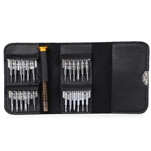 25 in 1 Precision Torx Screwdriver Wallet Repair Tool Set for Laptop Cellphone Electronics Device - 1bigshop