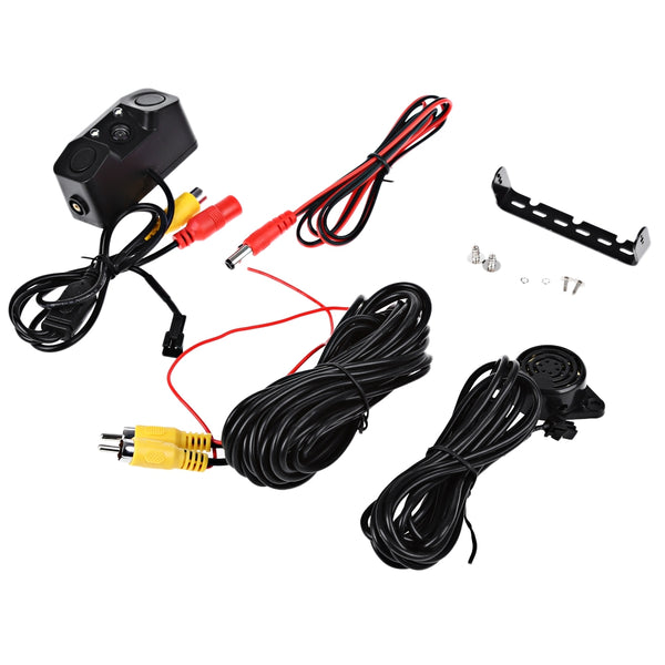 170 Degree Viewing Angle HD Car Rear View Camera with Radar Parking Sensor - 1bigshop
