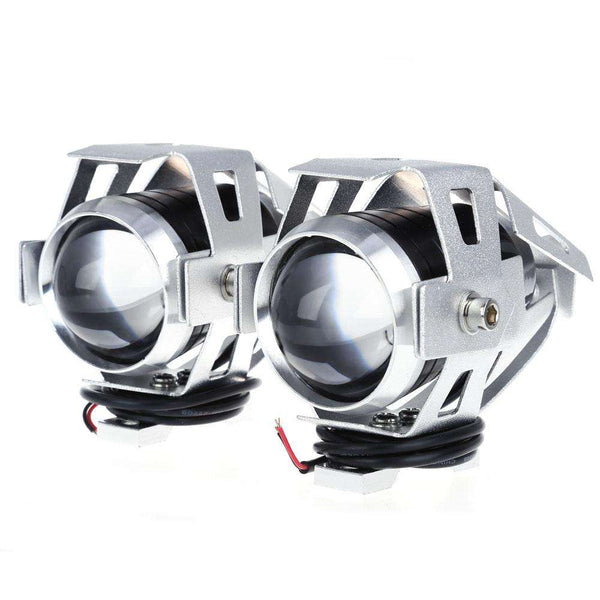2pcs U5 3000LM 125W Upper Low Beam Motorcycle Headlight LED Motorbike Spot Lamp - 1bigshop