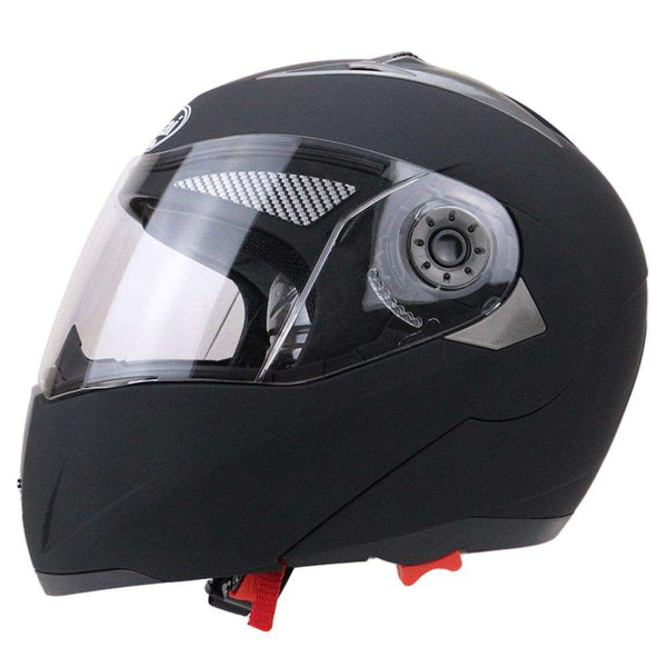 Full Face Motorcycle Helmet Dual Visor Street Bike with Transparent Shield - 1bigshop
