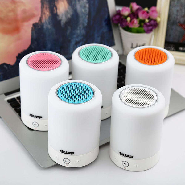 L7 3 in 1 Portable Romantic Touch Sensor Smart Light Bluetooth Speaker Radio - 1bigshop
