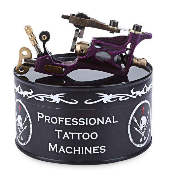 Tattoo Body Art Alloy Motor Rotary Machine Gun Purple - 1bigshop