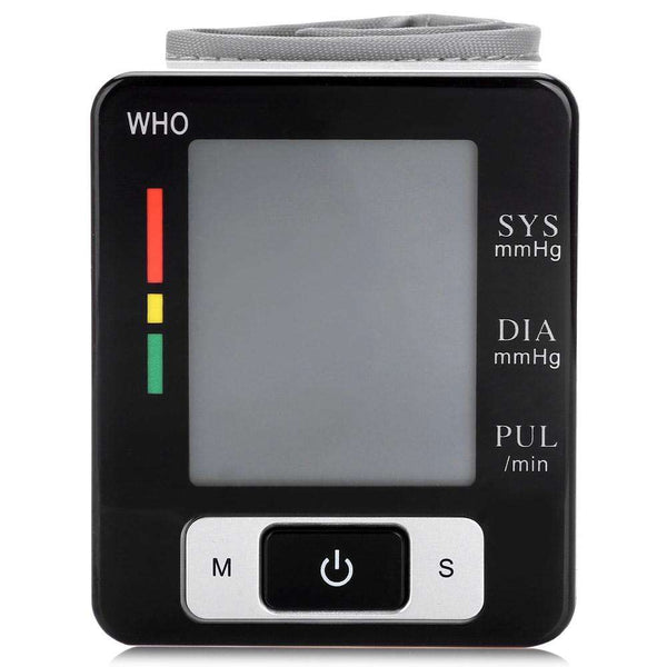 Wrist Blood Pressure Pulse Monitor Health Care Digital Sphygmomanometer - 1bigshop