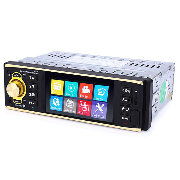 4019B 4.1 inch Vehicle-mounted MP5 Player Stereo Audio Car Video USB AUX FM Radio Station with Remote Control - 1bigshop