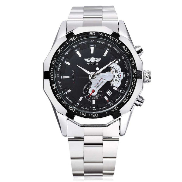 WINNER W050 Male Auto Mechanical Watch Chronograph Date Display Wristwatch - 1bigshop