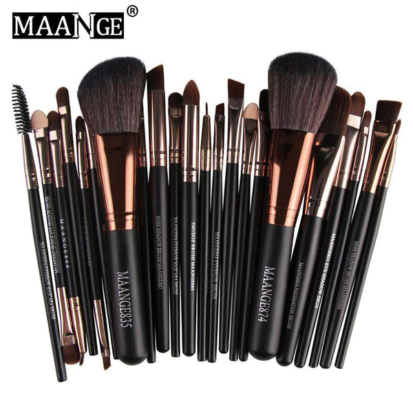 MAANGE 22pcs Foundation Blush Eye Shadow Makeup Brushes - 1bigshop