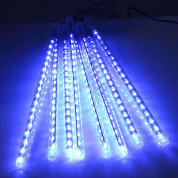 30CM 8 Tubes Christmas LED Meteor Shower Rain Lights Snow Falling Raindrop Cascading Outdoor AC 110 - 240V - 1bigshop