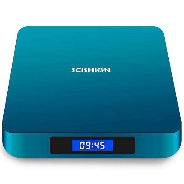 SCISHION AI ONE Android 8.1 TV Box Rockchip 3328 2GB RAM + 16GB ROM 2.4G WiFi USB3.0 BT4.0 Voice Control - 1bigshop