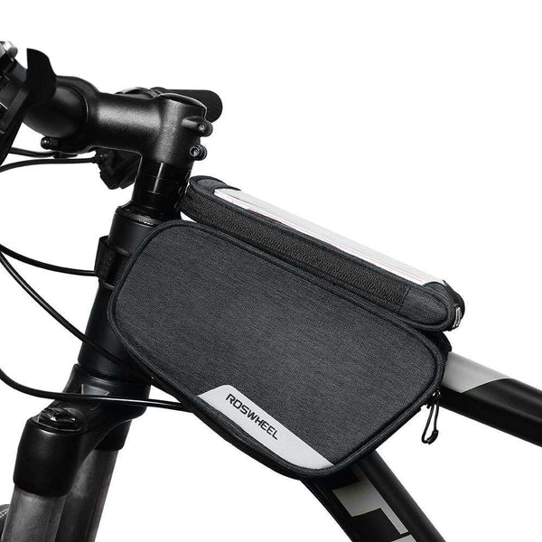 ROSWHEEL 121462 Bike Frame Bag Cycling Top Tube Pannier with Cell Phone Holder - 1bigshop