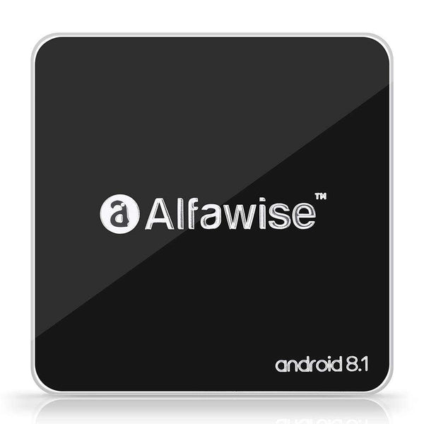 Alfawise A8 TV BOX Rockchip 3229 Android 8.1 - Black 2GB RAM + 16GB ROM - 1bigshop