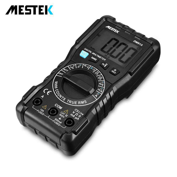 MESTEK DM91A Handheld LCD Digital Multimeter 9999 Counts Manual Ranging Tool - 1bigshop