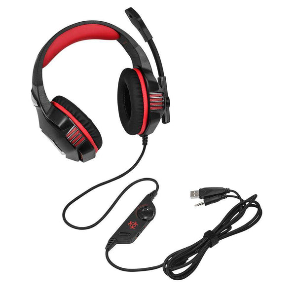Hunterspider V - 3 3.5mm Headsets Bass Gaming Headphones with Mic LED Light for Mobile Phone PC Xbox - 1bigshop
