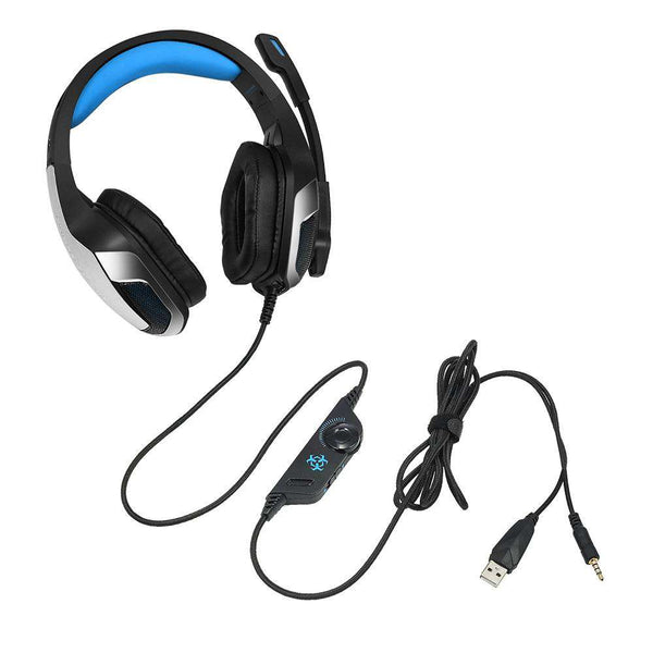 Hunterspider V - 4 3.5mm Headsets Bass Gaming Headphones with Mic LED Light for Mobile Phone PC Xbox PC Laptop - 1bigshop