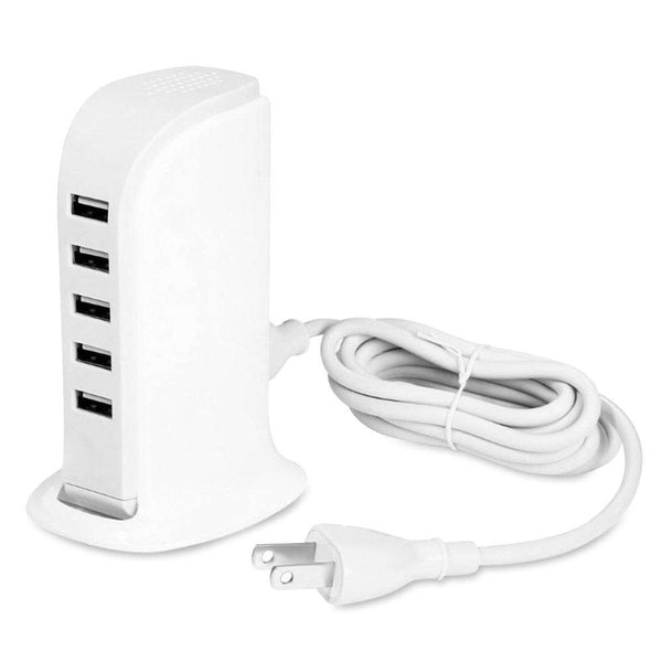 20W 5 USB Power Adapter Charger Socket Charging Dock - 1bigshop