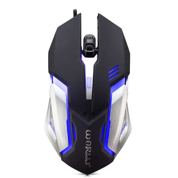 Warwolf M - 02 Wired Gaming Mouse Adjustable DPI Colorful LED Light - 1bigshop
