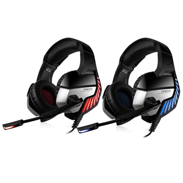 ONIKUMA K5 Pro Stereo Gaming Headset Over-ear Headphones with MIC LED Light for Xbox One / PS4 / PC - 1bigshop