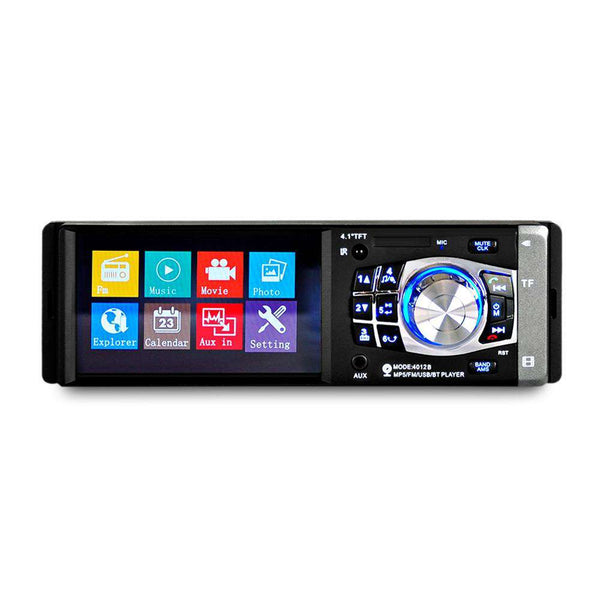 4012B 4.1 inch Vehicle-mounted MP5 Player Radio Multimedia Audio Video with Rear Camera - 1bigshop