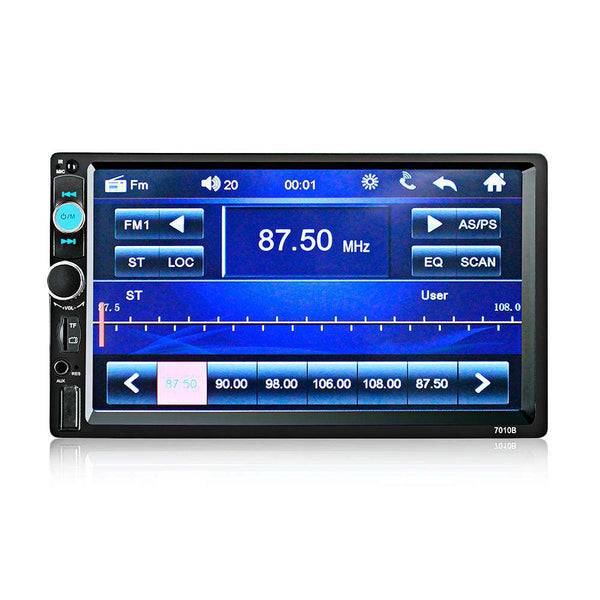 7010B 7 Inch Bluetooth V2.0 Car Audio Stereo Touch Screen MP5 Player Support AUX TF USB FM Radio with Camera - 1bigshop
