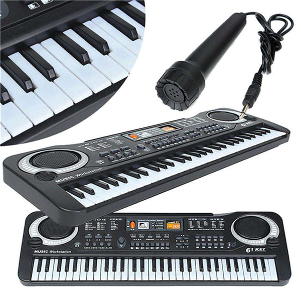 Multifunctional Mini Electronic Piano with Microphone 61 Keys Toy for Children - 1bigshop