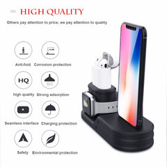 3 in 1 Charging Dock Charger for xiaomi A2 lite samsung huawei Charging Dock Silicone Docking Station for Apple Watch Airpods - 1bigshop