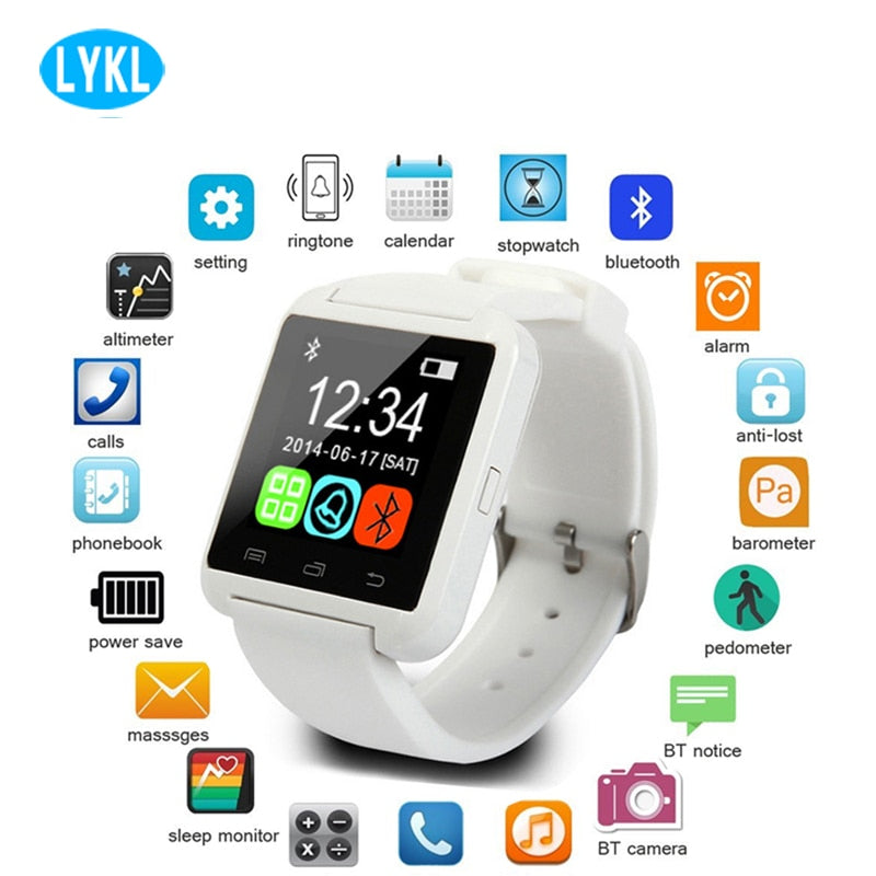 Hot Sales U8 Smart Watch Bluetooth Smartwatch U80 for IPhone 6 / 5S Samsung S6 / Note 4 HTC Android Phone Smartphones Android - 1bigshop