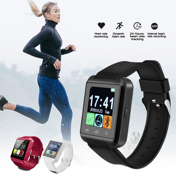 "U8 Bluetooth 3.0 Smart Watch 1.48"" TFT LCD EDR Smart Wrist Watch Multilingual Calling Fitness Tracker for Android Smart Phone - 1bigshop"