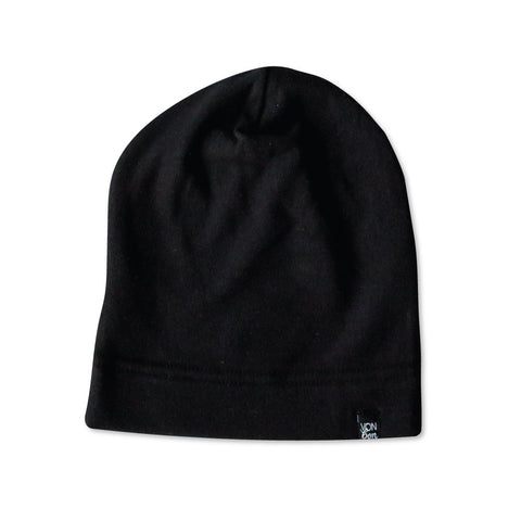 FLEECE SLOUCHY BEANIE | BLACK