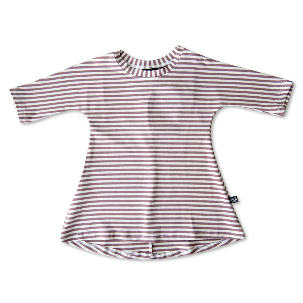 vonbon bamboo purple stripe baby girl dress