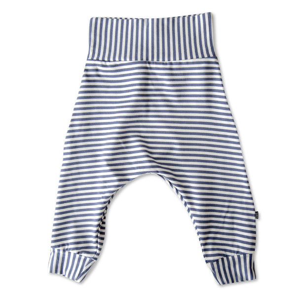 VONBON BLUE STRIPE BABY BOY HAREM LEGGINGS