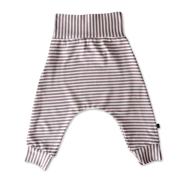 VONBON BABY GIRLS PURPLE STRIPE HAREM LEGGING