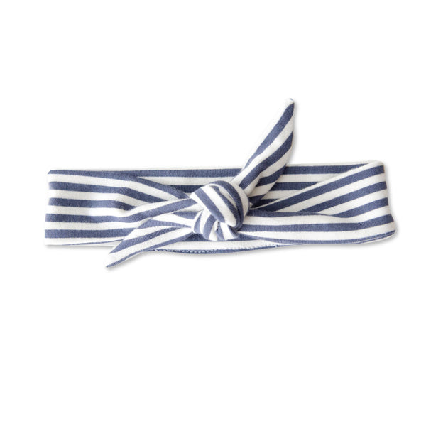 vonbon blue stripe baby girl headband