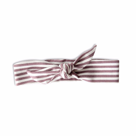 KNOTTED HEADBAND | LILAC STRIPE