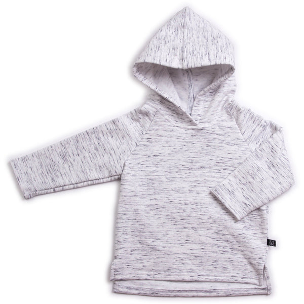 VONBON KIDS ORGANIC FLEECE HOODIE HOODED PULLOVER GRAY CANADA