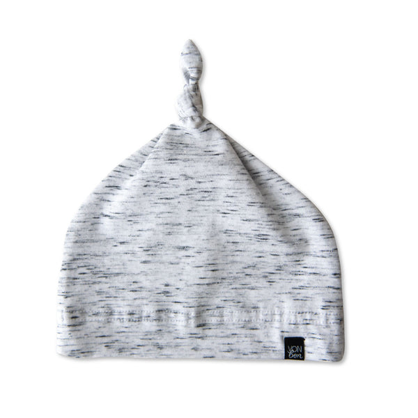 VONBON GRAY ORGANIC COTTON NEWBORN BABY HAT
