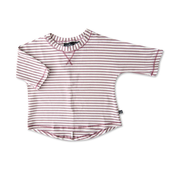 VONBON GIRLS BAMBOO LILAC STRIPE SHIRT