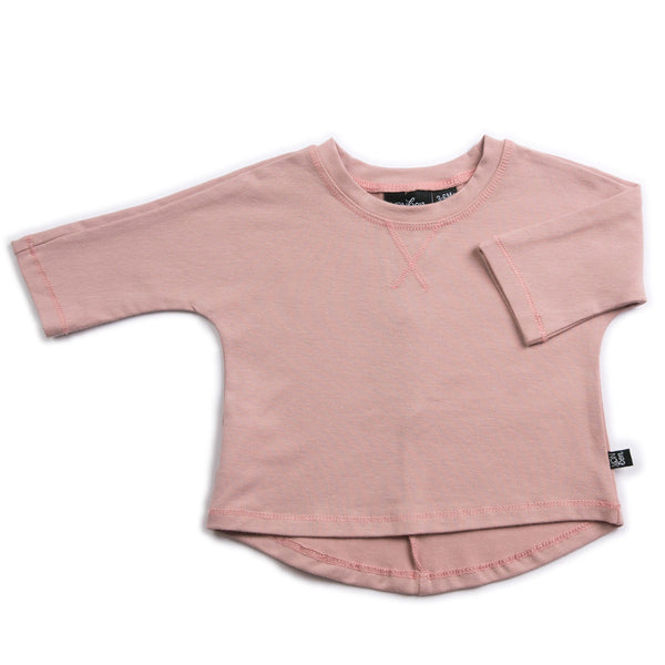 3/4 SLEEVE TEE VONBON ORGANIC COTTON BLUSH