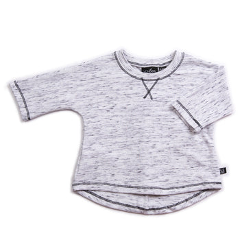 VONBON ORGANIC COTTON BABY BOY SHIRT MELANGE GRAY