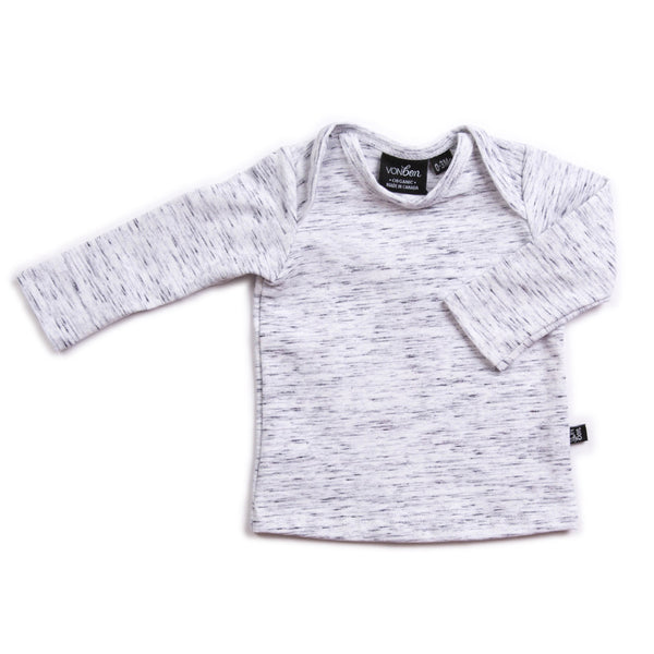VONBON BABY BASIC TOP MELANGE NEWBORN EASY TOP