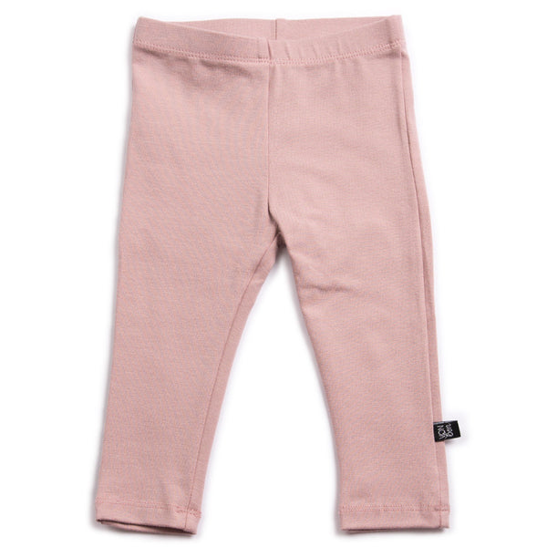 VONBON PINK LITTLE GIRLS ORGANIC COTTON LEGGINGS VANCOUVER